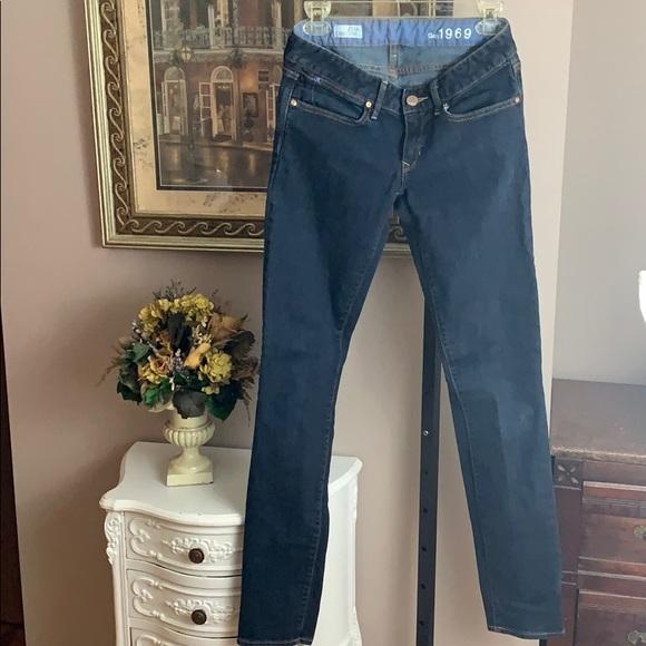 GAP Denim - Gap 1969 Always Skinny Dark Jeans Sz 27L Like New